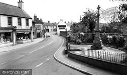 Crowle, War Memorial And High Street c.1960