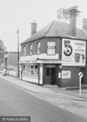 Crowthorne, Church Street Corner, Shop c.1960