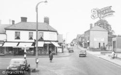 Crowthorne, High Street, Church Street Corner c.1960