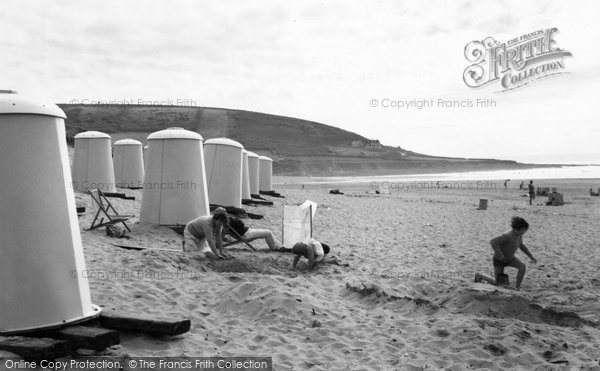 Photo of Croyde, Beach Huts On The Beach c.1965