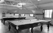 Croyde, NALGO Holiday Centre, the Billiard Room c1960