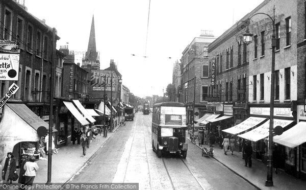 Photo of Croydon, London Road c.1950