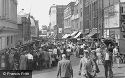 Croydon, Surrey Street Market c.1955