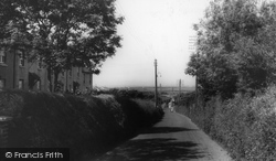 Cubert, The Crantock Road c.1960