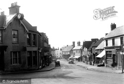 Cuckfield, High Street And The Clock c.1950