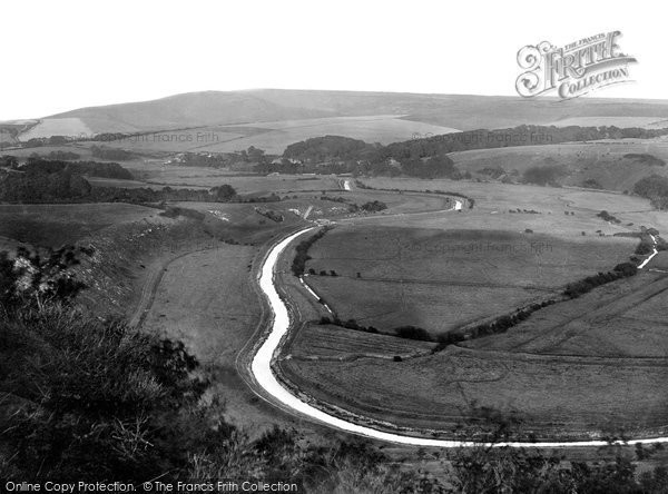 Photo of Cuckmere, The Valley From High And Over 1921
