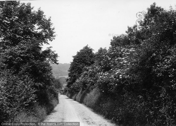 Photo of Cudham, Chalky Lane c.1935