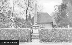 Cuffley, The Leefe Robinson Memorial c.1955