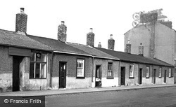 Cullercoats, Fishermen's Cottages, Front Street  c.1955