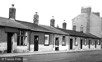 Cullercoats, Fishermen's Cottages, Front Street  c1955