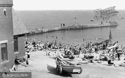 Cullercoats, The Beach c.1955