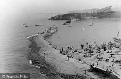 Cullercoats, The Harbour Wall c.1955