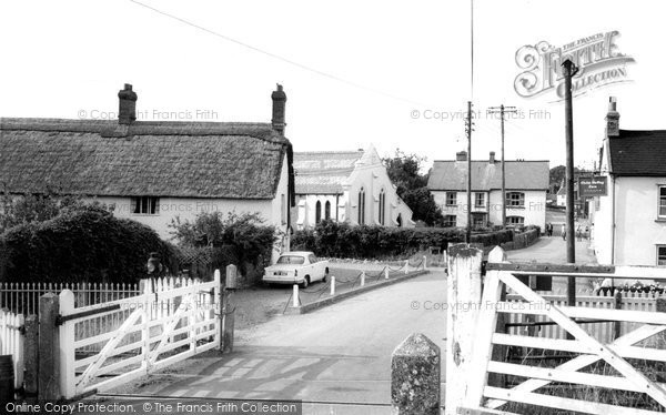 Culmstock, Railway Crossing c1965