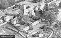 Culross, Aerial View Of Abbey c.1930