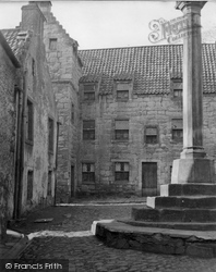 Culross, The Study And Town Cross 1953