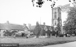 Curry Rivel, St Andrew's Church And Green c.1955