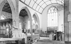Curry Rivel, St Andrew's Church Interior c.1960