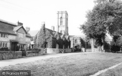 Curry Rivel, The Village Green And Church c.1960