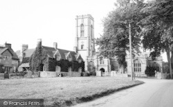 Curry Rivel, The Village Green And St Andrew's Church c.1960