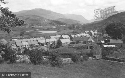 Cwm Y Glo, The Village And Bogelyn Lake c.1955