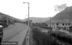 Cwmcarn, Coal Board Offices And New Road 1954