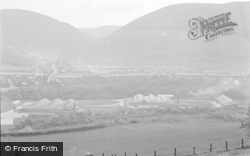 Cwmcarn, The Valley And Factories 1954