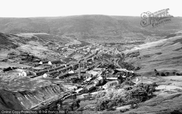 Cwmparc, Upper Cwmparc from Mountain Road c1960
