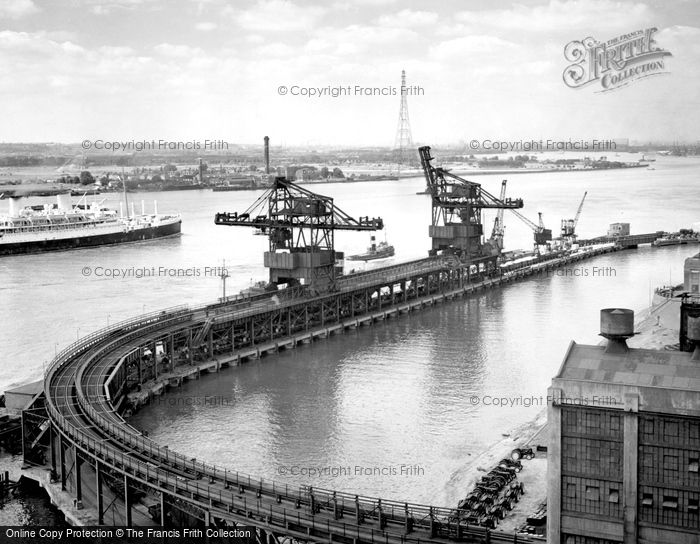 Photo of Dagenham, Ford Jetty And River Thames c.1950