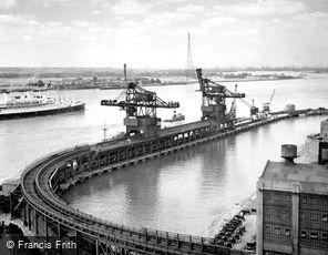 Dagenham, Ford Jetty and River Thames c1950