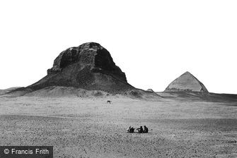 Dahshoor, the Pyramids from the East 1858