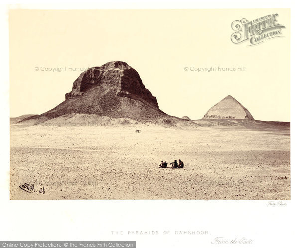 Photo of Dahshoor, The Pyramids From The East 1858