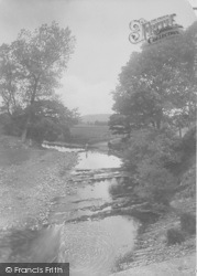 Dalehead, The River Hodder, Stepping Stones 1921