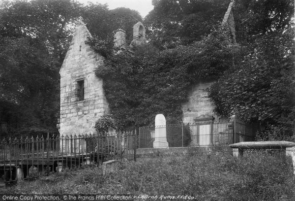 Dalgety Bay, Church Ruins 1900