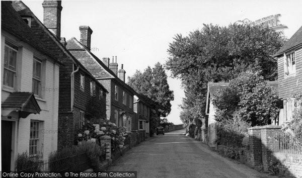 Photo of Dallington, The Street c.1955