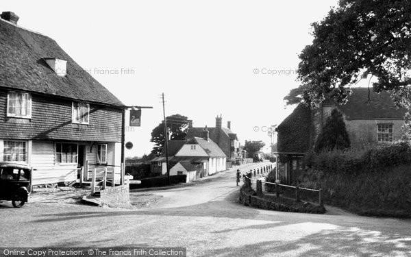 Photo of Dallington, Woods Corner c.1955