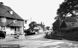 Dallington, Woods Corner c.1955