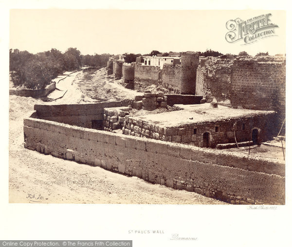 Photo of Damascus, St Paul's Wall 1857