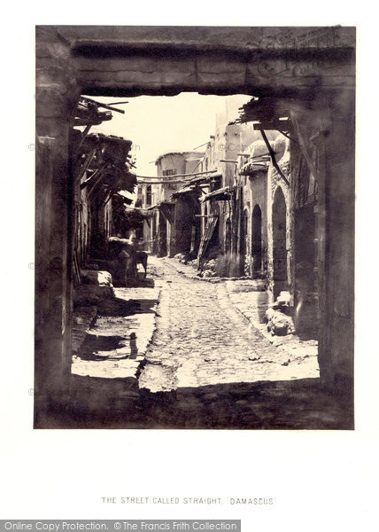 Photo of Damascus, The Street Called Straight 1857