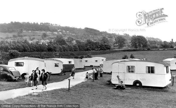 Darley Dale, the Caravan Park c1955