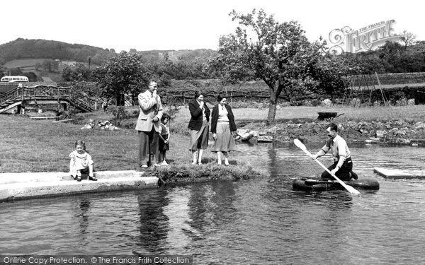 Photo of Darley Dale, The Pool, View Of Two Dales Cara Hols c.1955