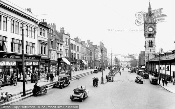Photo of Darlington, High Row 1926, ref. 79022