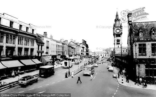 Photo of Darlington, High Row and West Row c1965, ref. d2030