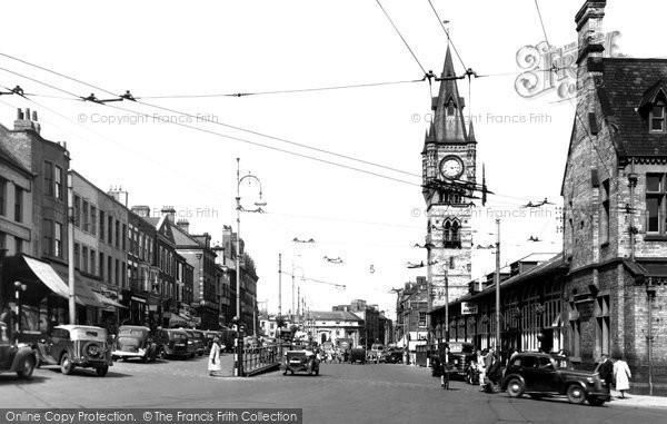 Photo of Darlington, High Row c1955, ref. d2001