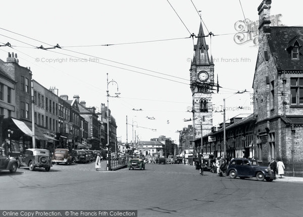 Photo of Darlington, High Row c1955, ref. d2001p