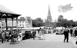 Darlington, Market Place c.1955