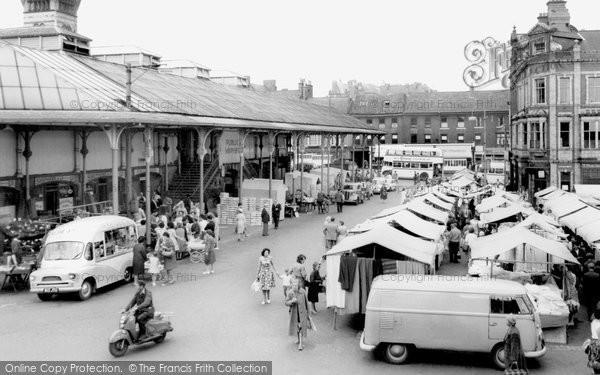 Photo of Darlington, Market Place c1965, ref. d2027