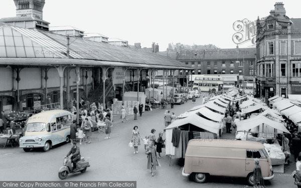Photo of Darlington, Market Place c1965, ref. d2027p