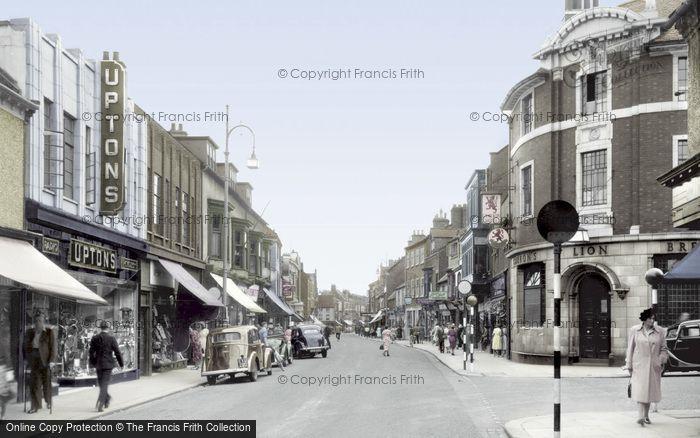 Photo of Darlington, Skinnergate c1955, ref. d2007t