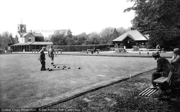 Photo of Darlington, South Park Bowling Green 1923, ref. 74332