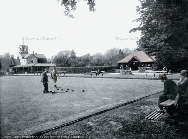 Photo of Darlington, South Park Bowling Green 1923, ref. 74332p